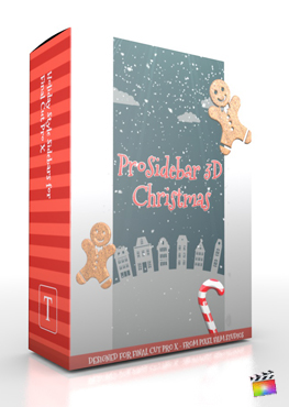 Final Cut Pro X Plugin ProSidebar 3D Christmas from Pixel Film Studios