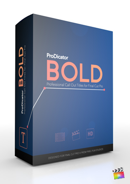 Final Cut Pro X Plugin ProDicator Bold from Pixel Film Studios