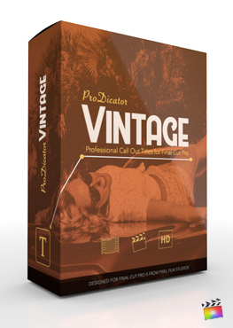 Final Cut Pro X Plugin ProDicator Vintage from Pixel Film Studios