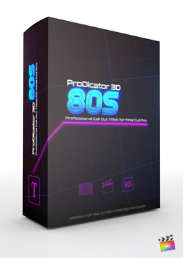 Final Cut Pro X Plugin ProDicator 3D 80s