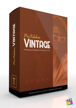 ProSidebar Vintage - Professional Description Titles for Final Cut Pro from Pixel Film Studios