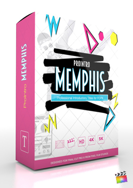 Final Cut Pro X Plugin ProIntro Memphis from Pixel Film Studios