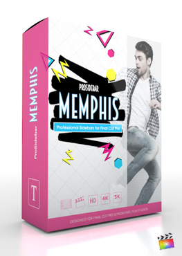 Final Cut Pro X Plugin ProSidebar Memphis from Pixel Film Studios