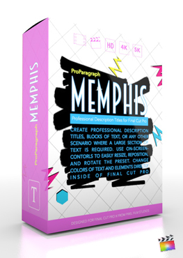 Final Cut Pro X Plugin ProParagraph Memphis from Pixel Film Studios