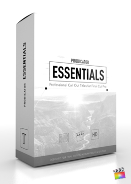 Final Cut Pro X Plugin ProDicator Essentials from Pixel Film Studios