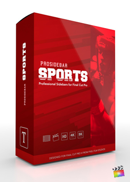 Final Cut Pro X Plugin ProSidebar Sports from Pixel Film Studios