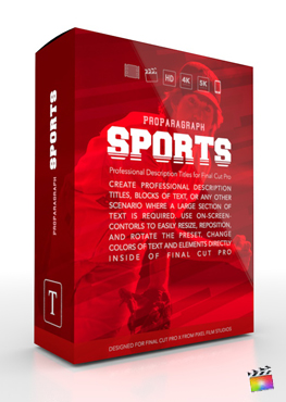 Final Cut Pro X Plugin ProParagraph Sports from Pixel Film Studios