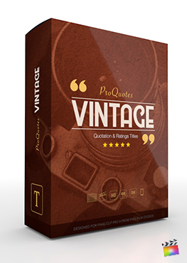 Final Cut Pro X Plugin ProQuotes Vintage from Pixel Film Studios