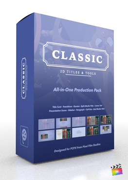 Final Cut Pro X Plugin Classic Production Package from Pixel Film Studios