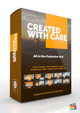 Final Cut Pro X Plugin Created With Care Production Package from Pixel Film Studios