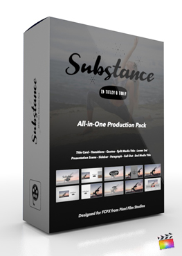 Final Cut Pro X Plugin Substance Production Package from Pixel Film Studios