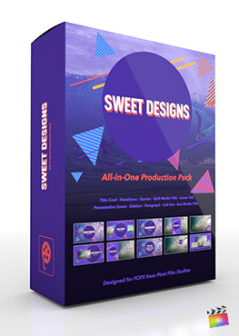 Final Cut Pro X Plugin's Sweet Designs Production Package from Pixel Film Studios