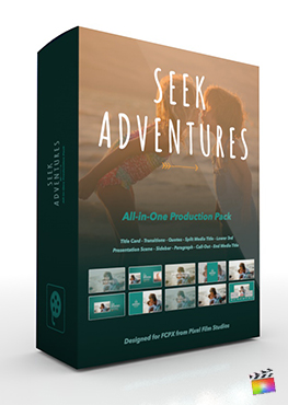 Final Cut Pro X Plugin's Seek Adventure Production Package from Pixel Film Studios