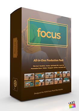 Final Cut Pro X Plugin's Focus Production Package from Pixel Film Studios