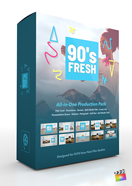 Final Cut Pro X Plugin's 90s Fresh Production Package from Pixel Film Studios