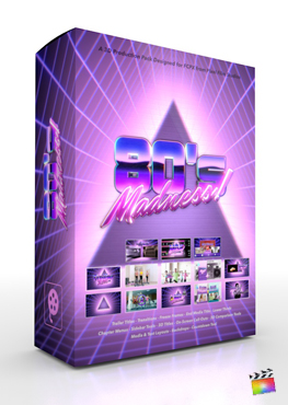 Final Cut Pro X Plugin 80's Madness Production Package from Pixel Film Studios