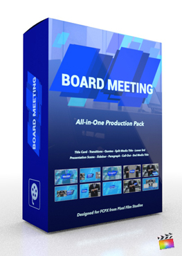 Final Cut Pro X Plugin Board Meeting Production Package from Pixel Film Studios