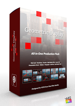 Final Cut Pro X Plugin Geometric Display Production Package from Pixel Film Studios
