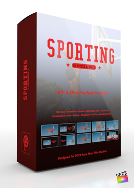 Final Cut Pro X Plugin Sporting Production Package from Pixel Film Studios