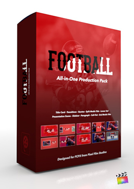 Final Cut Pro X Plugin's Football Production Package from Pixel Film Studios
