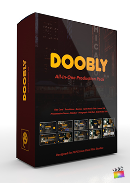 Final Cut Pro X Plugin's Doobly Production Package from Pixel Film Studios
