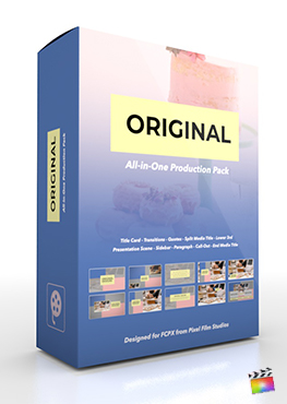 Final Cut Pro X Plugin's Original Production Package from Pixel Film Studios