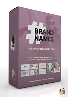 Final Cut Pro X Plugin's Brand Name Production Package from Pixel Film Studios