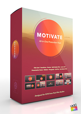 Final Cut Pro X Plugin's Motivate Production Package from Pixel Film Studios