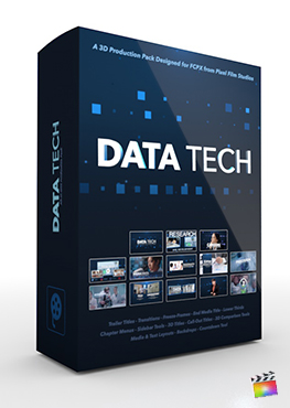 Final Cut Pro X Plugin Data Tech 3D Production Package from Pixel Film Studios