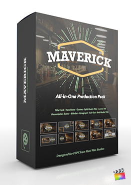 Final Cut Pro X Plugin's Maverick Production Package from Pixel Film Studios