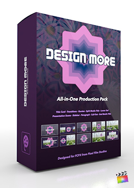 Final Cut Pro X Plugin's Design More Production Package from Pixel Film Studios