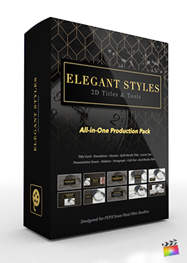 Final Cut Pro X Plugin's Elegant Styles Production Package from Pixel Film Studios