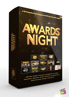 Final Cut Pro X Plugin Awards Night 3D Production Package from Pixel Film Studios