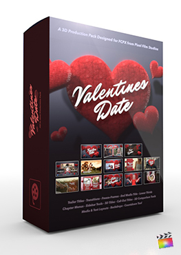 Final Cut Pro X Plugin (Valentines Date 3D Production Package from Pixel Film Studios