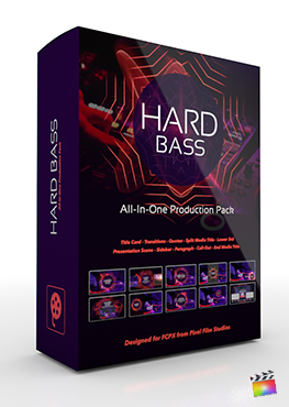 Final Cut Pro X Plugin's Hard Bass Production Package from Pixel Film Studios