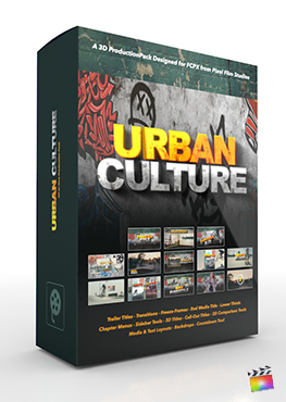 Final Cut Pro X Plugin Urban Culture 3D Production Package from Pixel Film Studios