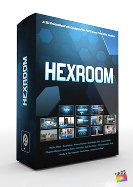 Final Cut Pro X Plugin Hex Room 3D Production Package from Pixel Film Studios