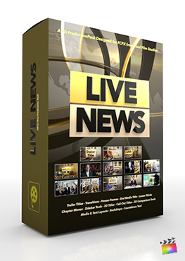 Final Cut Pro X Plugin Live News 3D Production Package from Pixel Film Studios