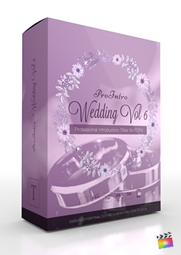 Final Cut Pro X Plugin ProIntro Wedding Volume 6 from Pixel Film Studios