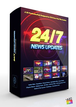Final Cut Pro X Plugin 24-7 News 3D Production Package from Pixel Film Studios