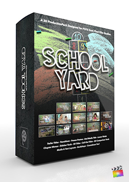 Final Cut Pro X Plugin School Yard 3D Production Package from Pixel Film Studios