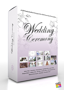 Final Cut Pro X Plugin Wedding Ceremony 3D Production Package from Pixel Film Studios