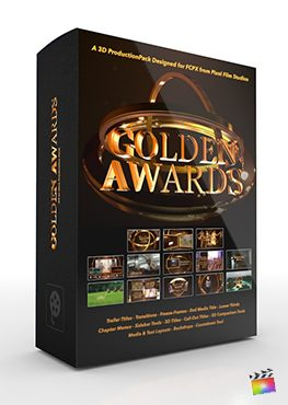 Final Cut Pro X Plugin Golden Awards 3D Production Package from Pixel Film Studios