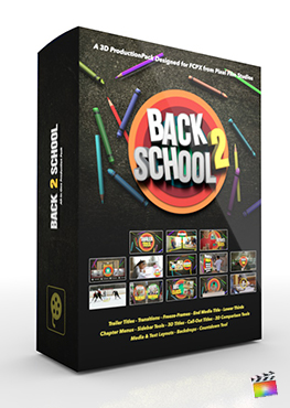 Final Cut Pro X Plugin Back 2 School 3D Production Package from Pixel Film Studios