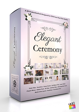 Final Cut Pro X Plugin Elegant Ceremony 3D Production Package from Pixel Film Studios