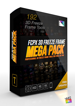 Final Cut Pro X Plugin FCPX 3D Freeze Frame Mega Pack from Pixel Film Studios