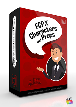 Final Cut Pro X Plugin FCPX FCPX Characters and Props from Pixel Film Studios