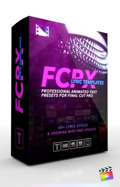Final Cut Pro X Plugin FCPX Lryic Templates from Pixel Film Studios