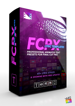 Final Cut Pro X Plugin FCPX Lyric Templates