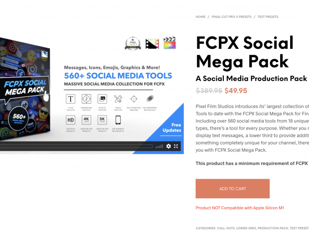 Cover image for FCPX Social Mega Pack from Pixel Film Studios